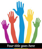 Genel seçimlerde oy eller. — Stok Vektör