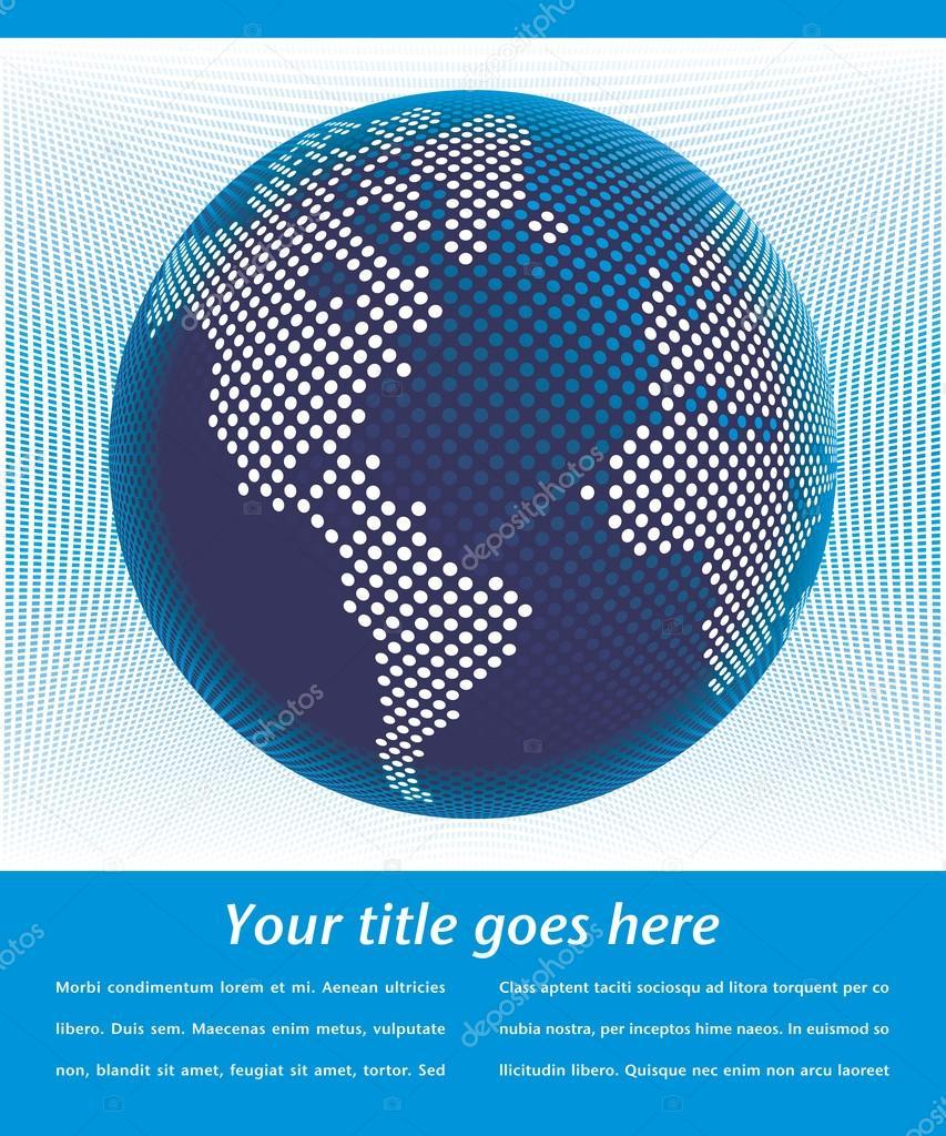 数字世界地图与旋转箭头设计 — 图库矢量图像08
