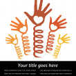 Reaching hands — Stock Vector