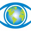 World eye vector — Stock Vector