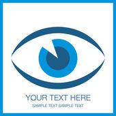 Diseño llamativo ojo con el espacio de la copia. — Vector de stock