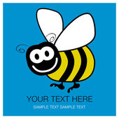 Bumble bee design with copy space. — Stock Vector