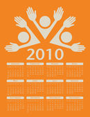 2010 vereinigte vektor-kalender — Stockvektor