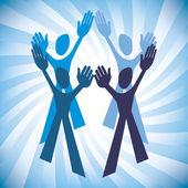 Teamwork design — Wektor stockowy