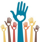 Loving hands — Stock Vector