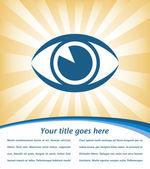 Eye sunburst with copy space vector — Stock Vector