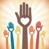 Kochające ręce — Wektor stockowy