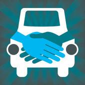 Car handshake design — Stock Vector