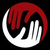 Hand circles design — Stock Vector