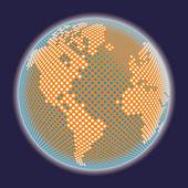 Digital world map — Stock Vector