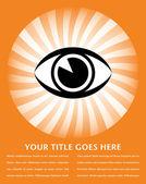 Eye sunburst with copy space vector. — Stock Vector