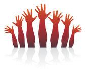 Happy hands — Stock Vector
