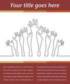 Hand design — Stockvector