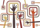 Hand design — Stok Vektör