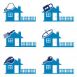 House or real estate illustration — Stock Vector