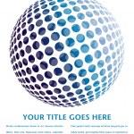 Colorful digital globe design — Stock Vector