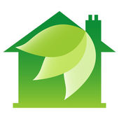 Eco friendly house diseño — Vector de stock