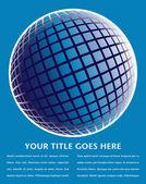 дизайн красочный цифровой глобус — Cтоковый вектор