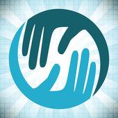 Cuidado natural manos diseño — Vector de stock
