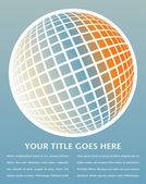 Projekt kolorowy glob cyfrowy — Wektor stockowy