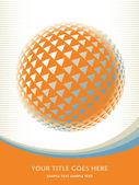 Conception globe numérique coloré — Vecteur