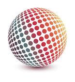Kleurrijke digitale wereld ontwerp — Stockvector