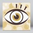 Striking eye design — Stock Vector