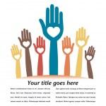 Happy loving hands — Stock Vector #27485305