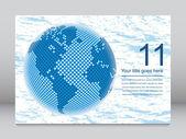 Dijital dünya harita kopya uzay vektör ile. — Stok Vektör