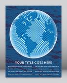 Mapa świata cyfrowego z kopii wektor. — Wektor stockowy