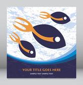 Horquilla de cola de pescado diseño. — Vector de stock