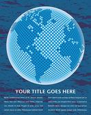 Digitale wereldkaart met kopie ruimtevector. — Stockvector