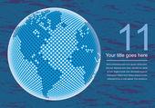 Digitala världskarta med kopia utrymme vektor. — Stockvektor