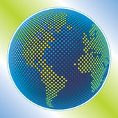 Mapa del mundo digital con el vector espacial de copia. — Vector de stock