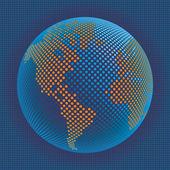 Carte du monde numérique avec le vecteur de l'espace copie. — Vecteur