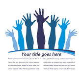 Hand pattern leaflet design. — Stock Vector