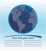 コピー スペース ベクトルとデジタルの世界地図. — ストックベクタ