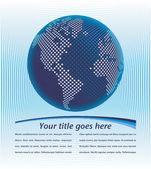 Mapa-múndi digital com vetor de espaço de cópia. — Vetorial Stock