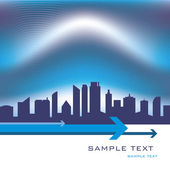 City skyline design with copy space. — Stockvector