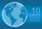 Mapa světa digitální kopie prostoru vektor. — Stock vektor