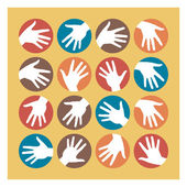 Hand circles design. — Stock Vector
