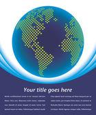 карта цифрового мира с копией пространства вектор. — Cтоковый вектор
