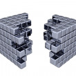 3D Cubes - Separation — Stock Photo