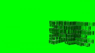 Glass Cubes - Assembly - Animation — Stock Video