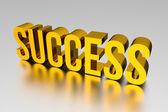 3D Gold SUCCESS — Stock Photo