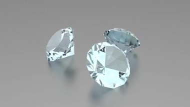 3D Diamonds - Animation — Video Stock
