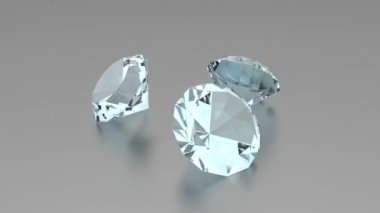 3D Diamonds - Animation — Wideo stockowe