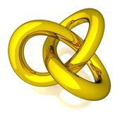 3D Gold Knot — Stock Photo