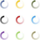 Loading Indicators Set 9 Colors — Stock Photo