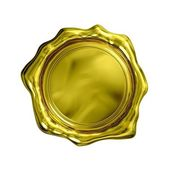 Gold Seal - Isolated — Stock Photo